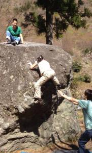 キッズと外岩ボルダリング
