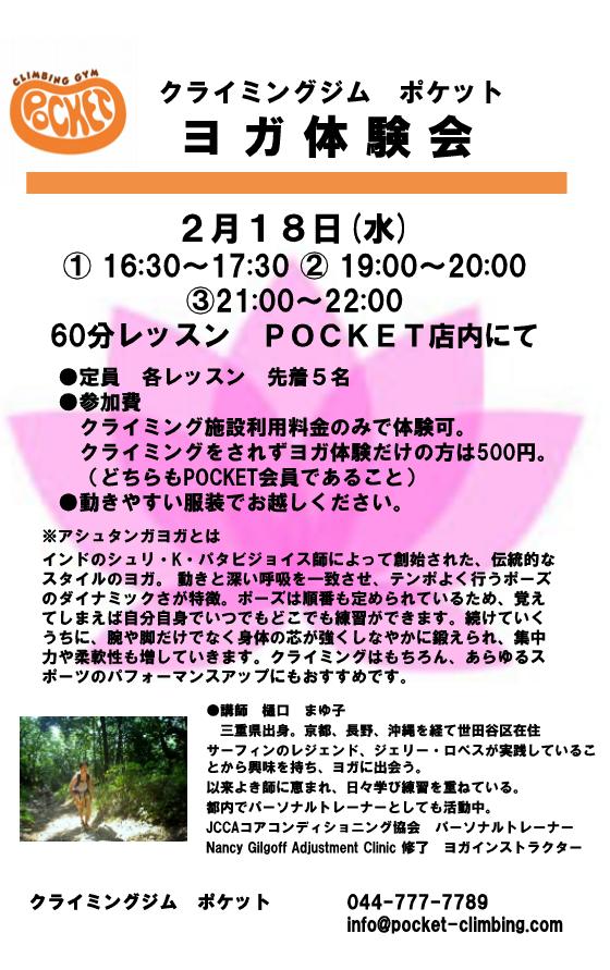 ヨガ体験会2015-02-18